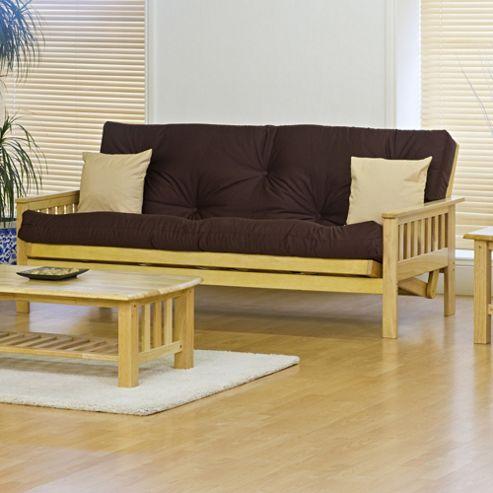 Kyoto Nashville 3 Seater Convertible Sofa Clic Clac Bed - Louisa Chocolate - Supreme