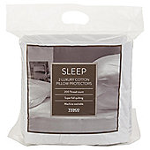 Tesco 100% Cotton 200 Thread Count Pillow Protector Twinpack