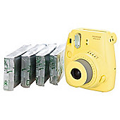Fujifilm Instax Mini8 Bundle with 4 packs of film (40 shots) - YELLOW