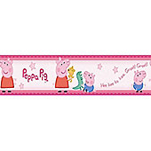 Peppa Pig & George Wallpaper Border Self Adhesive 5m