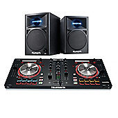Numark Mixtrack Pro 3 Controller & Numark N-Wave 360 Powered Monitor - Home DJ Package