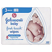 Johnson's Baby First Touch Wipes - Triple Pack - 192 Wipes""