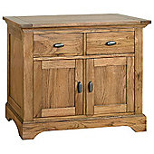Kelburn Furniture Toulouse Small Sideboard in Medium Oak Stain and Satin Lacquer
