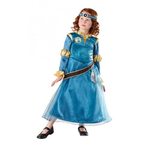 Rubies Fancy Dress Costume - Disney - Merida (Brave) Deluxe Costume - CHILD UK SMALL