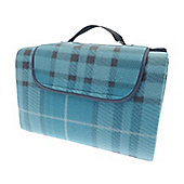 Country Club Family Size Beach & Picnic Blanket 150 x 200cm, Blue Tartan