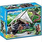 Playmobil Treasure Hunter'S Camp With Giant Snake - Treasure Hunters 4843