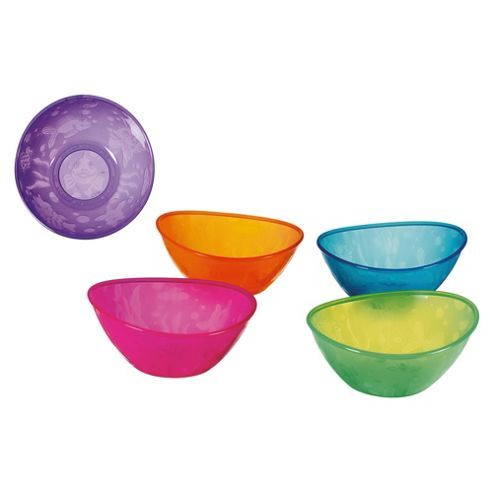 Munchkin 5 Pack Multi-coloured Feeding Bowls