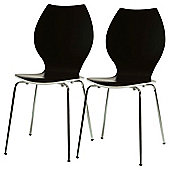 Candy Chairs Pair Black