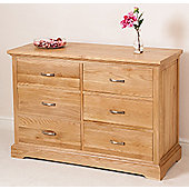Aspen Solid Oak 6 Drawer Chest