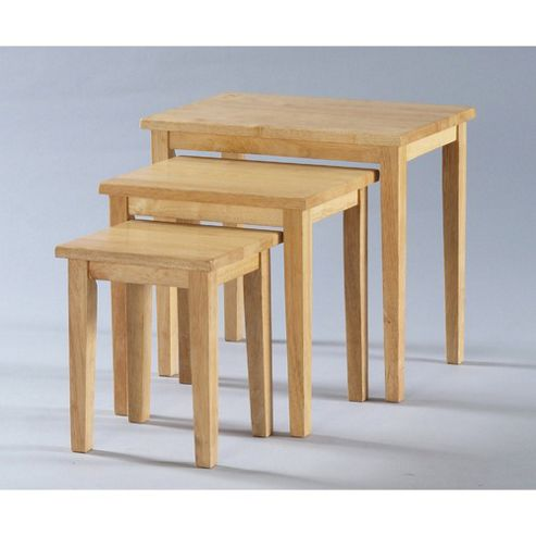 Buy Furniture Link Adeline Nest Of Tables In Rubberwood From Our Nest Of Tables Range Tesco