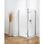 Coram Showers Optima Pivot Door - Chrome - Modesty Panel 1 - 76cm
