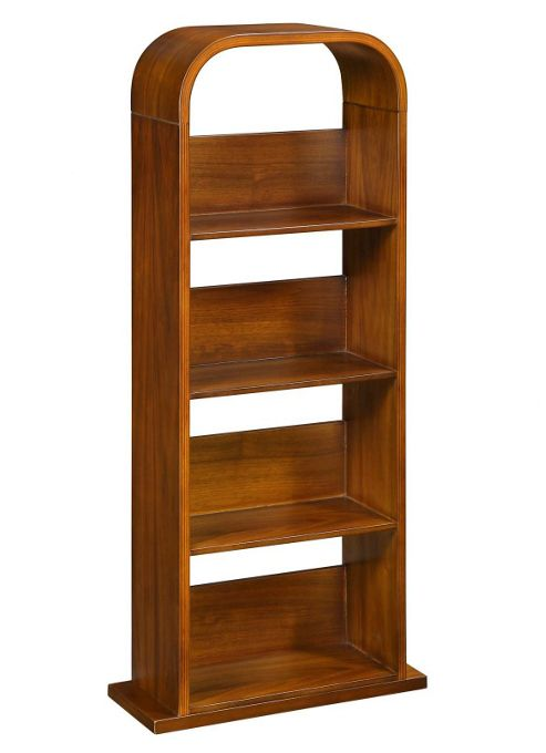 Jual Curve DVD Rack in Walnut