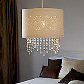 Endon Lighting Beading Around The Base Mini Pendant in White