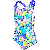 Speedo Girls Allover Splashback Print 40 Swimsuit - Multi
