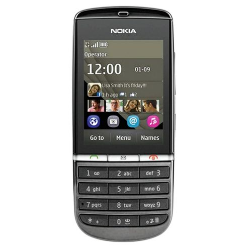 Orange Nokia Asha 300 Graphite