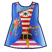 Cooksmart Children's PEVA Vinyl Tabard Apron, Pirate