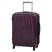 IT Luggage Gloss 8-Wheel Hard Shell Zinfandel Purple Cabin Case