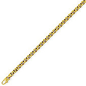 "Jewelco London 9ct Yellow Gold - Round Belcher Bracelet - 7.25"" / 18cm"