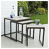 Coastal Set Of 3 Outdoor Tables