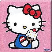 Hello Kitty Ice Cool Kitty Canvas Print