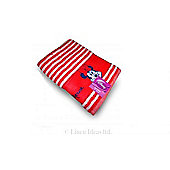 Disney Minnie Mouse Stripe Red Printed Beach Towel