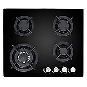 MyAppliances ART28924 60cm Gas on Glass Hob in Black