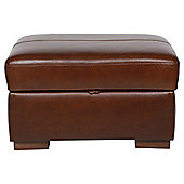 Idaho Storage Footstool Antique Chestnut