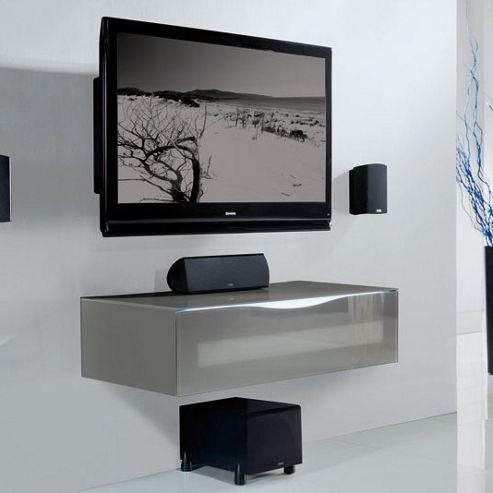 Triskom TV Cabinet - Grey