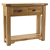 Kelburn Furniture Toulouse Small Console Table in Medium Oak Stain and Satin Lacquer