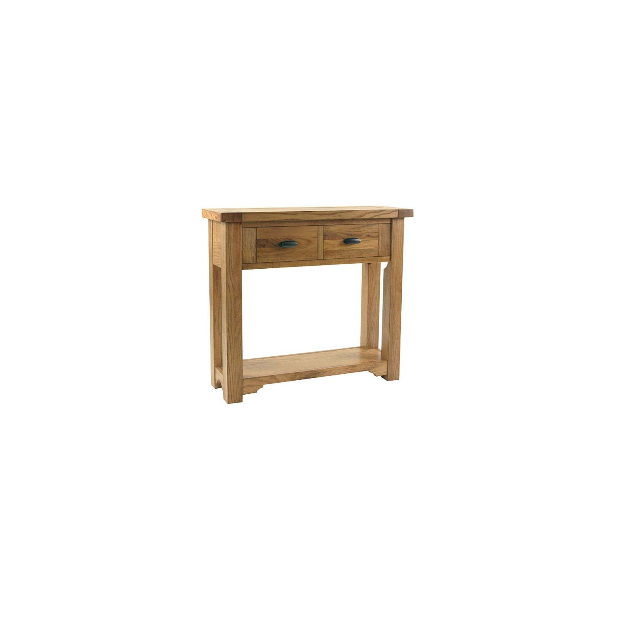 Kelburn Furniture Toulouse Small Console Table in Medium Oak Stain and Satin Lacquer at Tesco Direct