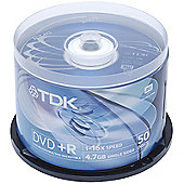 TDK DVD+R 8X 4.7GB Blank Media Discs Cake Spindle 50 Pack