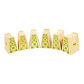 Bigjigs Rail BJT053 High Level Blocks (Pack of 6)