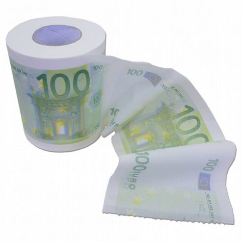 Euro Money Toilet Paper