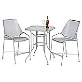 Zarin Steel Mesh Bistro Set with 2 Chairs
