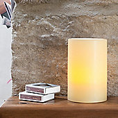 Small Church Pillar Wax Battery LED Candle With Timer