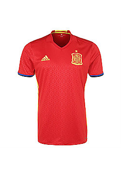 adidas Spain FEF Home Football Euro Jersey 2016 - Red