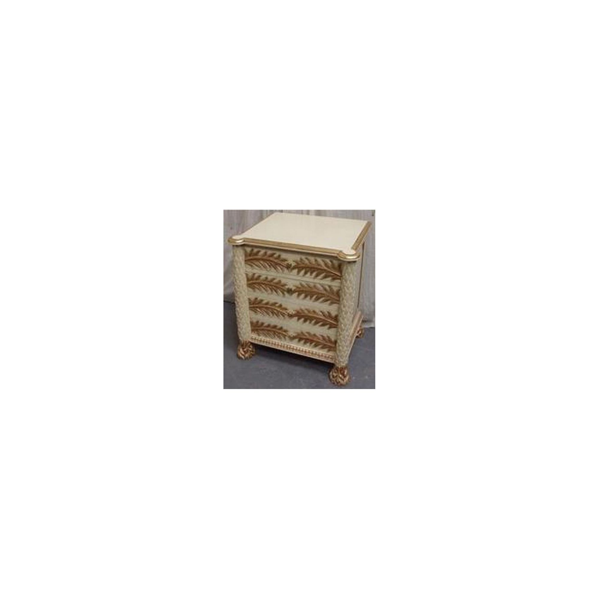Lock stock and barrel Mahogany 4 Drawer Palm Chest - Antique White at Tesco Direct