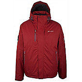 Pulse Waterproof Breathable Reflector Hooded Snowboarding Skiing Ski Jacket - Red
