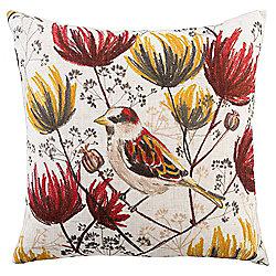 Bird And Botanics Cushion 43 x 43cm