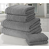 Zero Twist Bath Towel - Charcoal