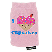 Kondor Stylish Pink Heart Noggins Cupcake Mobile Phone Sock/Pouch