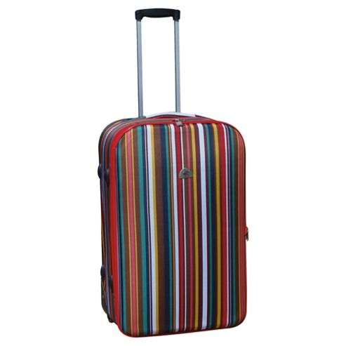 Beverly Hills Polo Club 2-Wheel Suitcase, Multi-Stripe Medium