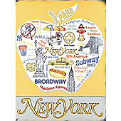 Love New York Tin Sign