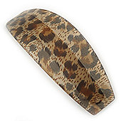 Large Animal Pattern Acrylic Barrette Hair Clip Grip - 95mm Across