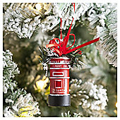 Weiste Red Postbox Christmas Tree Decoration