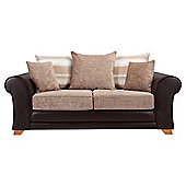 Lima fabric mix sofabed chocolate and mink