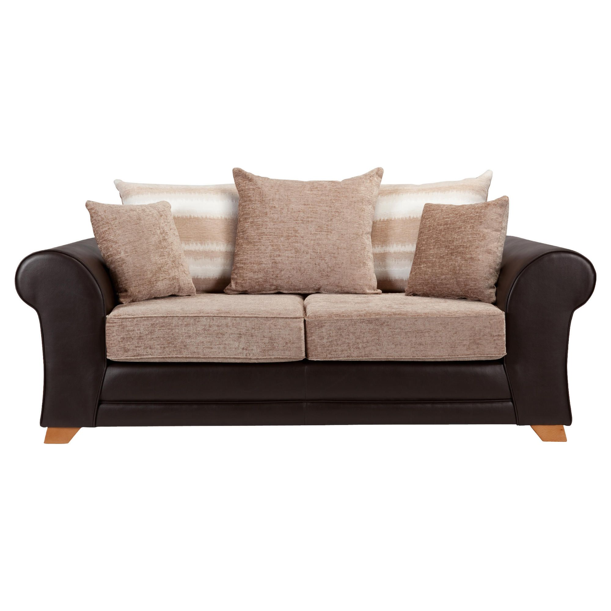 Lima fabric mix sofabed chocolate and mink at Tesco Direct