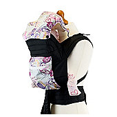 Mei Tai Baby Carrier With Hood & Pocket - Purple Paisley