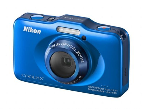 Nikon Coolpix S31 Digital Camera, Blue, 10.1MP, 3x Optical Zoom, 2.7 inch LCD Screen