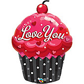 "Love You Cupcake Balloon - 35"" Foil (each)"